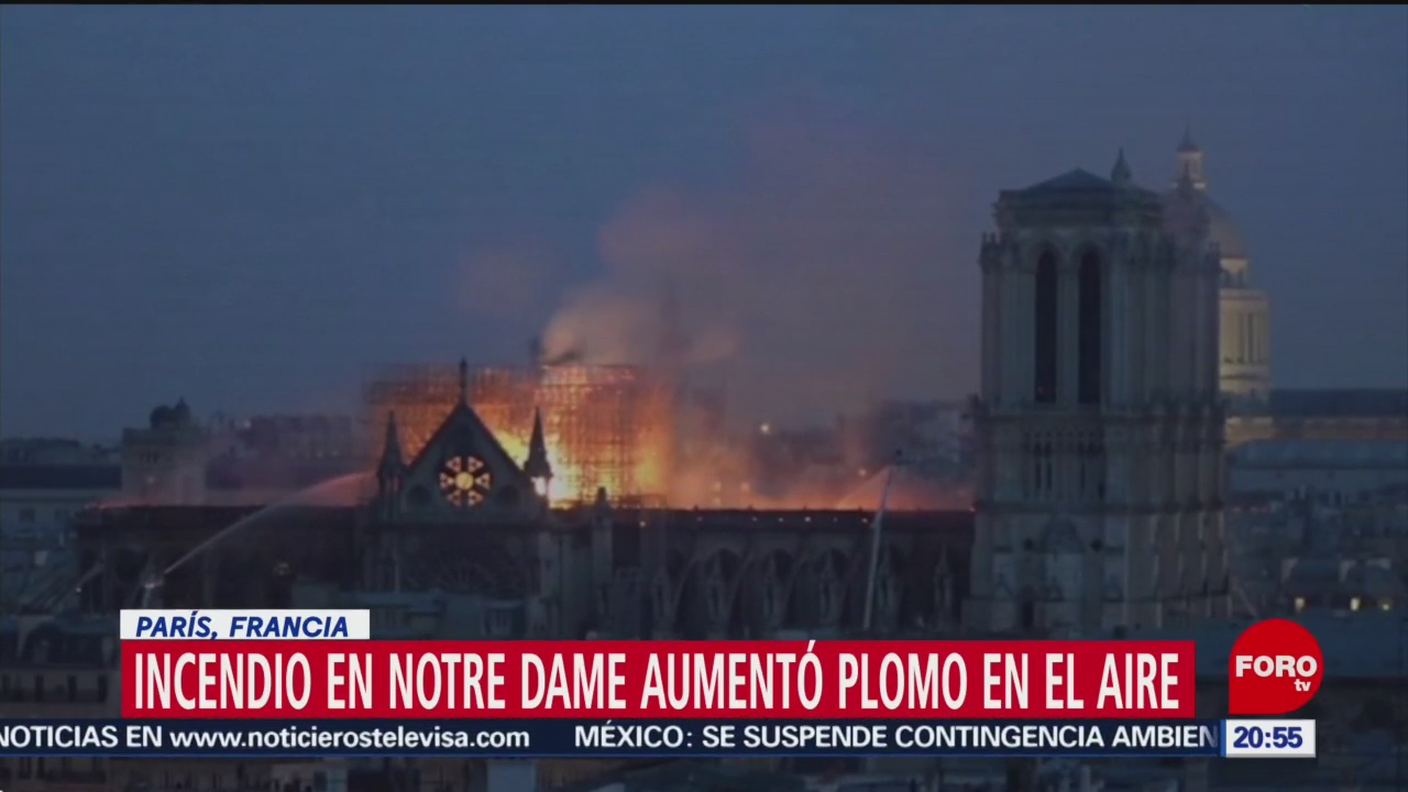 FOTO: Incendio en Catedral de Notre Dame deja altos niveles de plomo, 18 MAYO 2019