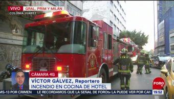 FOTO: Incendio en cocina de hotel en la CDMX, 18 MAYO 2019