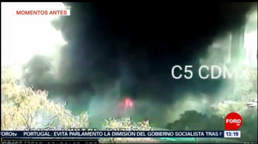 FOTO: Incendio en Cuajimalpa es por ignición de llantas