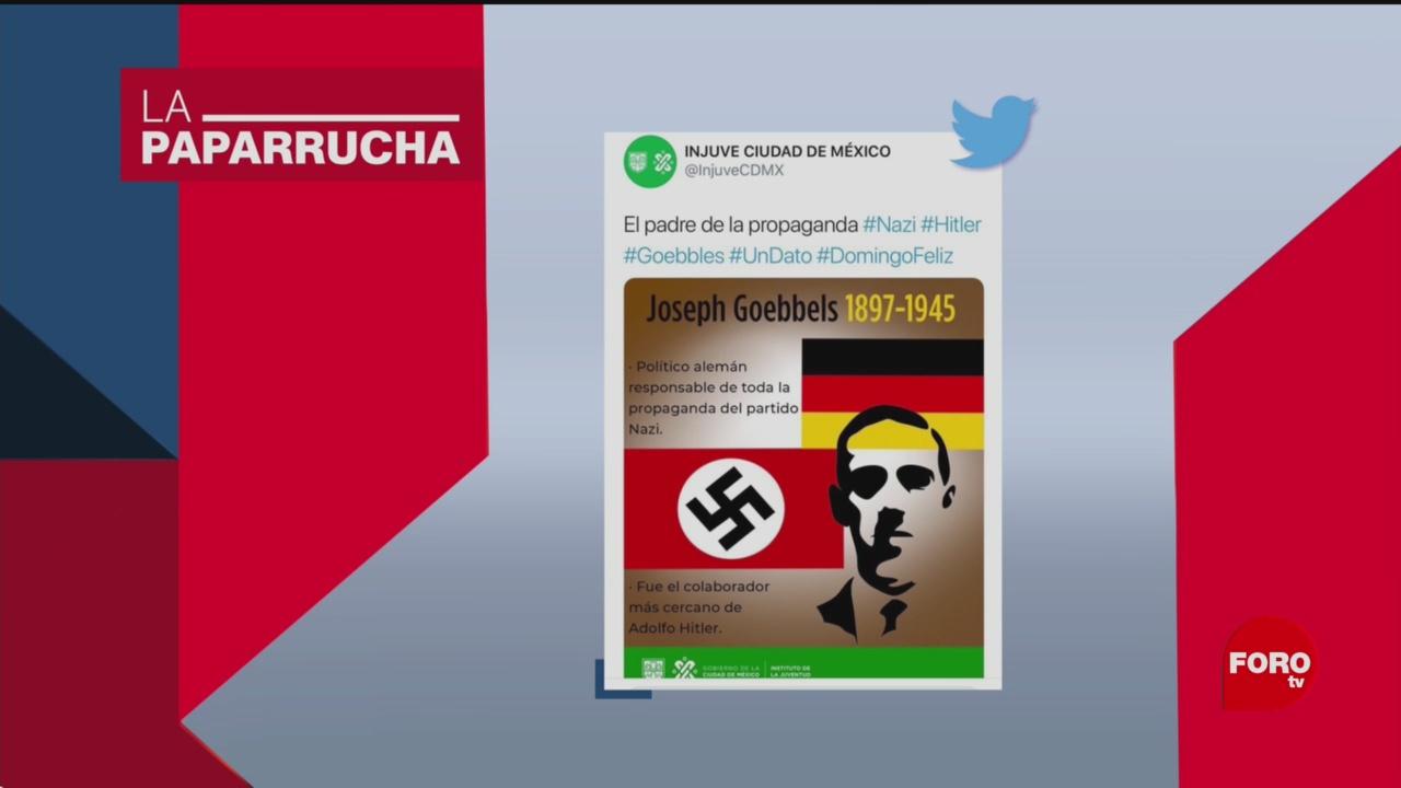 Foto: Injuve Imagen Redes Nazis 27 Mayo 2019
