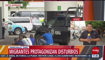 Foto: INM informa sobre disturbios en estación de Tapachula