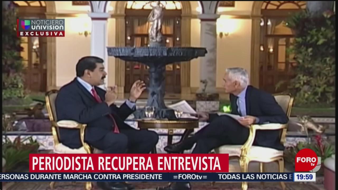 Foto: Jorge Ramos Entrevista Nicolás Maduro 30 Mayo 2019