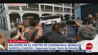 Joven disparó contra comerciantes que se manifestaban en Zócalo de Cuernavaca