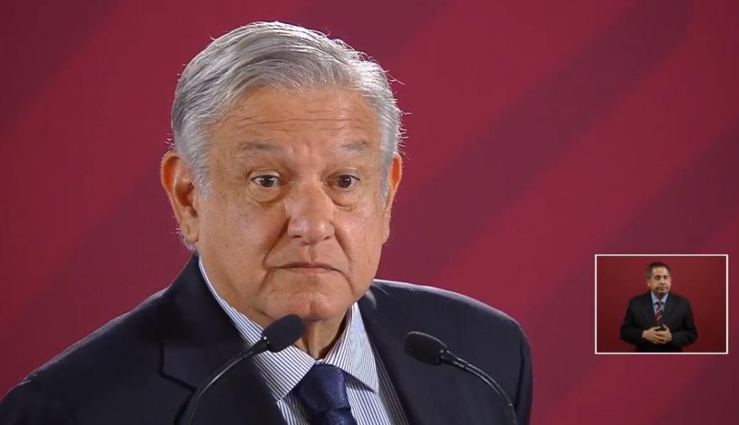 Foto: El presidente Andrés Manuel López Obrador en conferencia de prensa, 21 de mayo de 2019, Ciudad de México