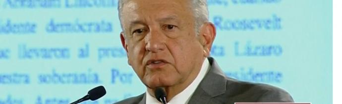 Foto: López Obrador en conferencia de prensa desde Palacio Nacional, 31 de mayo de 2019, Ciudad de México