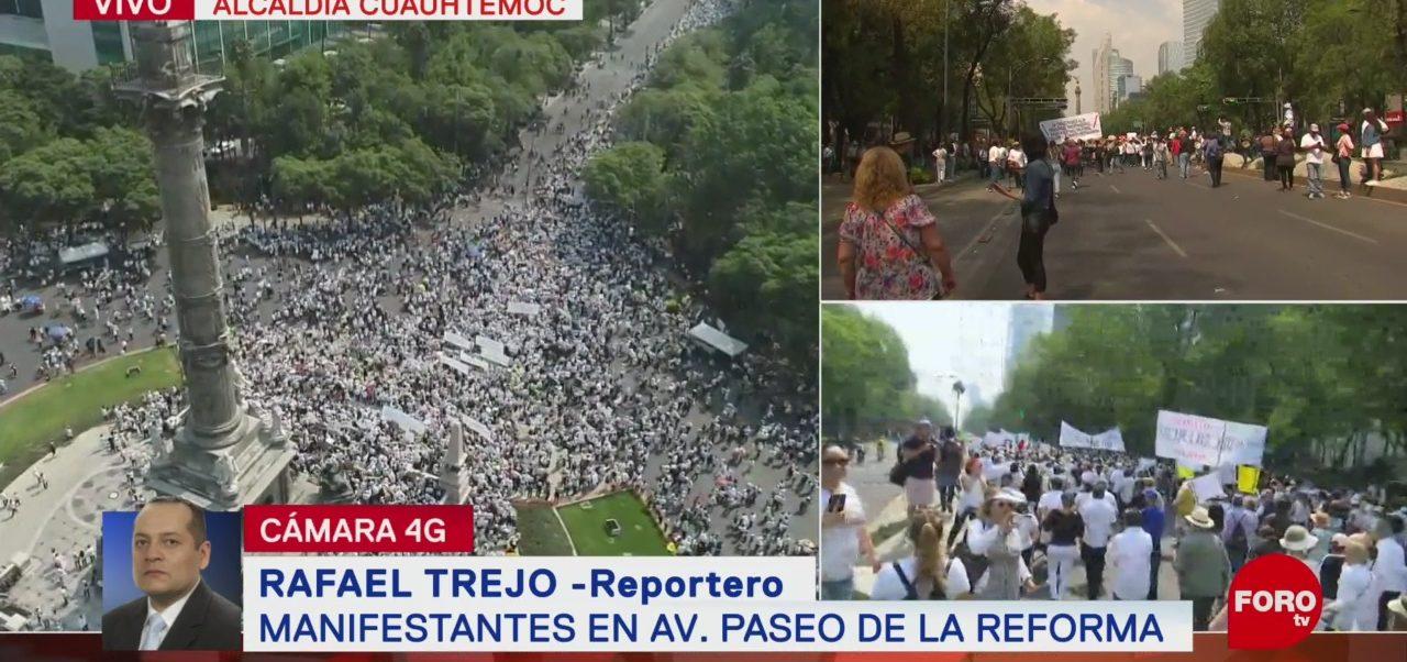 FOTO:Manifestantes marchan sobre Paseo de la Reforma, 5 MAYO 2019