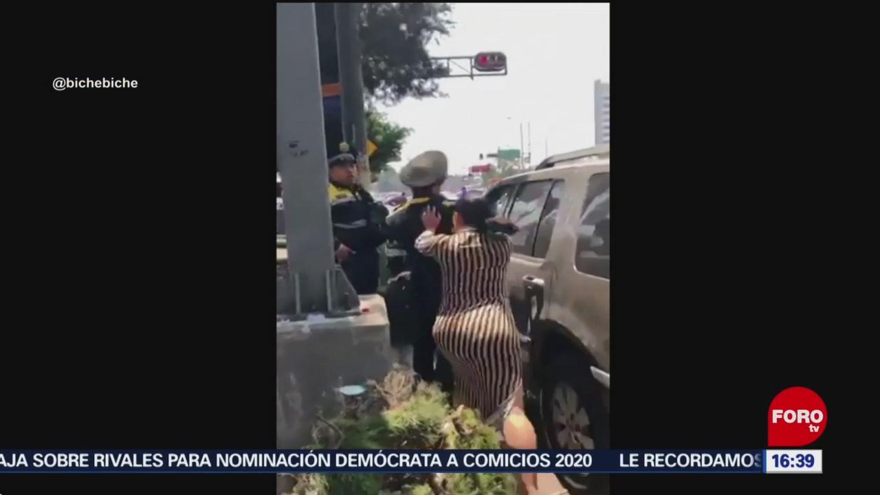 Foto: Manotean y escupen a policías de tránsito en CDMX