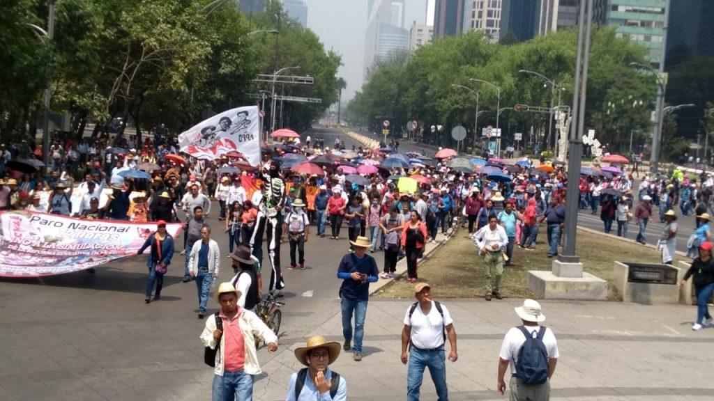 Foto Marcha de la CNTE avanza por Paseo de la Reforma 15 mayo 2019