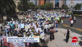 Marchan por la vida más de 25 mil personas