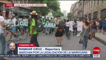 FOTO: Marchan por legalización de la marihuana en CDMX, 4 MAYO 2019