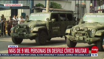 FOTO: Más de 9 mil personas en desfile cívico militar en Puebla, 5 MAYO 2019