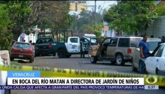 Matan a directora de jardín de niños en Boca del Río