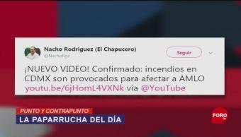 Foto: Incendios Conspiraciones AMLO Noticias Falsas 16 de Mayo 2019