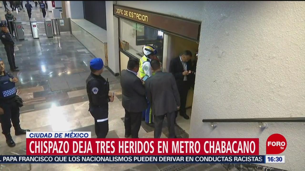 Foto: Metro atiende a usuarios heridos