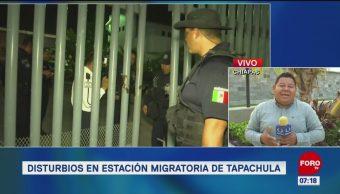 Migrantes cubanos intentaron escapar de Estación Migratoria en Chiapas