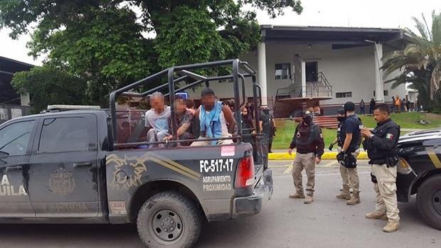 Foto: Migrantes detenidos en Piedras Negras, Coahuila, 14 de mayo 2019. Twitter @PeriodicoZocalo
