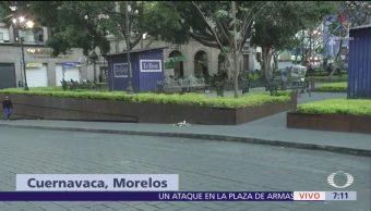 Montan ofrendas tras balacera en Zócalo de Cuernavaca