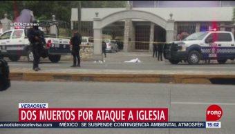 FOTO: Mueren dos personas tras ataque en estacionamiento de una iglesia en Veracruz, 19 MAYO 2019