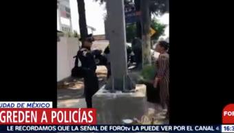 Foto Agreden Policías Buenavista 16 Mayo 2019
