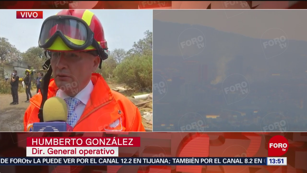 FOTO: No hay personas intoxicadas por incendio en predio de Cuajimalpa