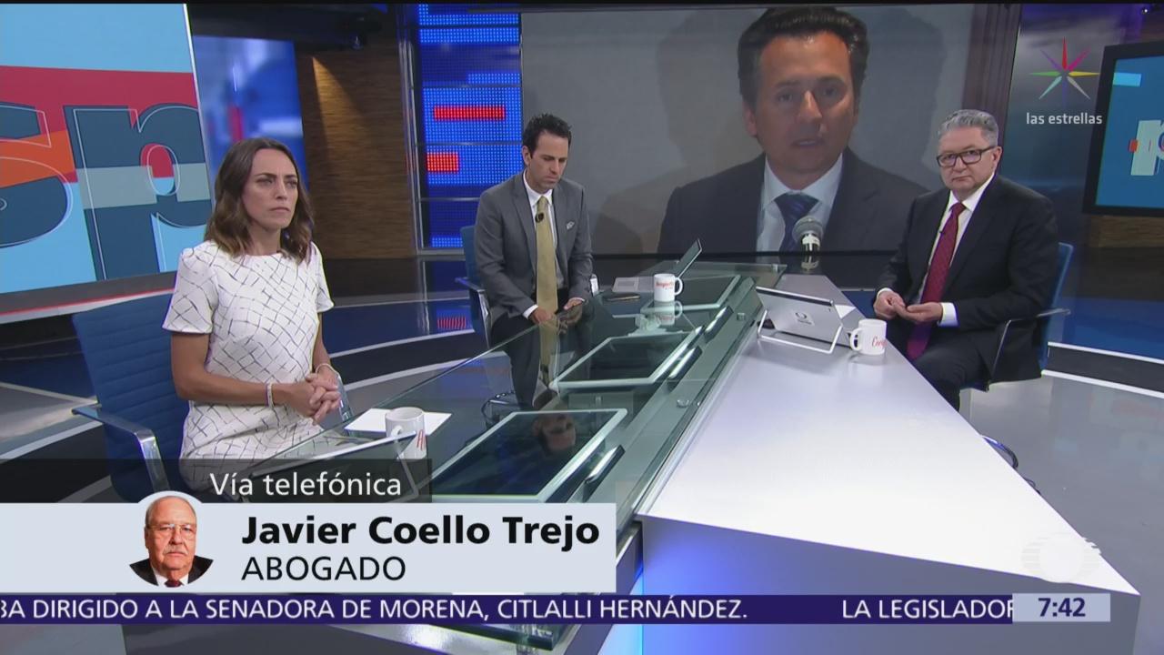No voy a presentar a Emilio Lozoya, está amparado: Javier Coello