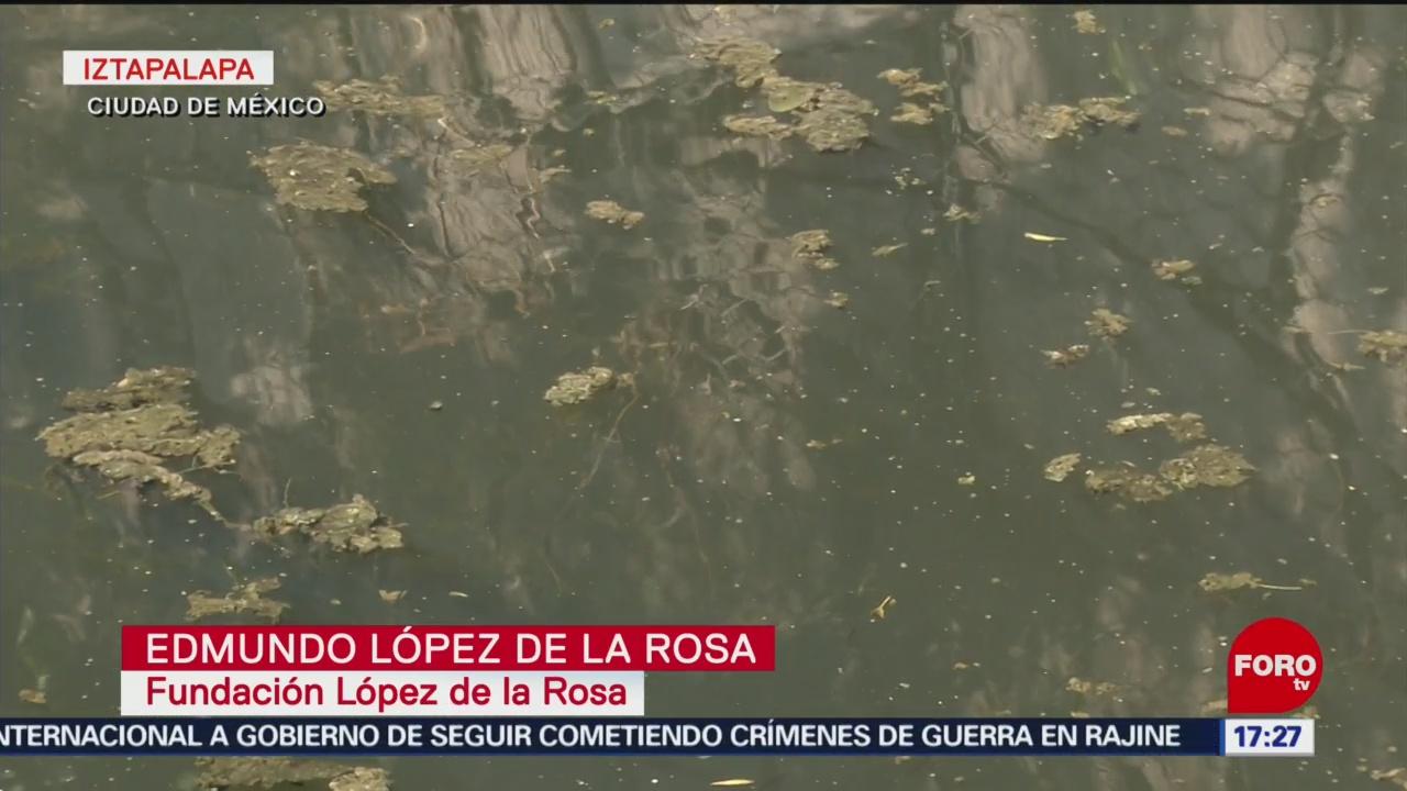 FOTO: Derrame de aguas negras contamina canal en Iztapalapa, 28 MAYO 2019