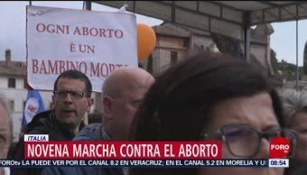 FOTO: Novena marcha contra el aborto en Italia, 19 MAYO 2019