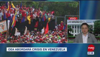 OEA abordará crisis en Venezuela