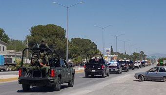 Foto: operativo de seguridad en Coahuila, 13 de abril 2019. Twitter @FGECoahuila