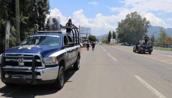 Foto: operativo de seguridad en Michoacán, 22 de mayo 2019. Twitter @MICHOACANSSP