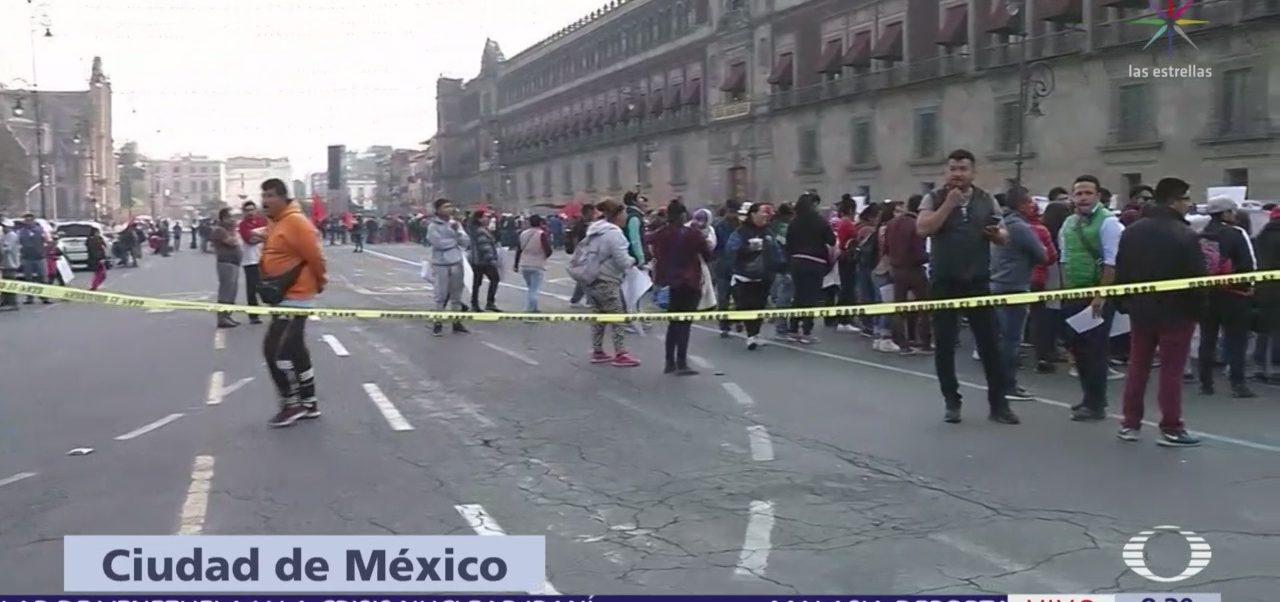 Organizaciones sociales protestan frente a Palacio Nacional