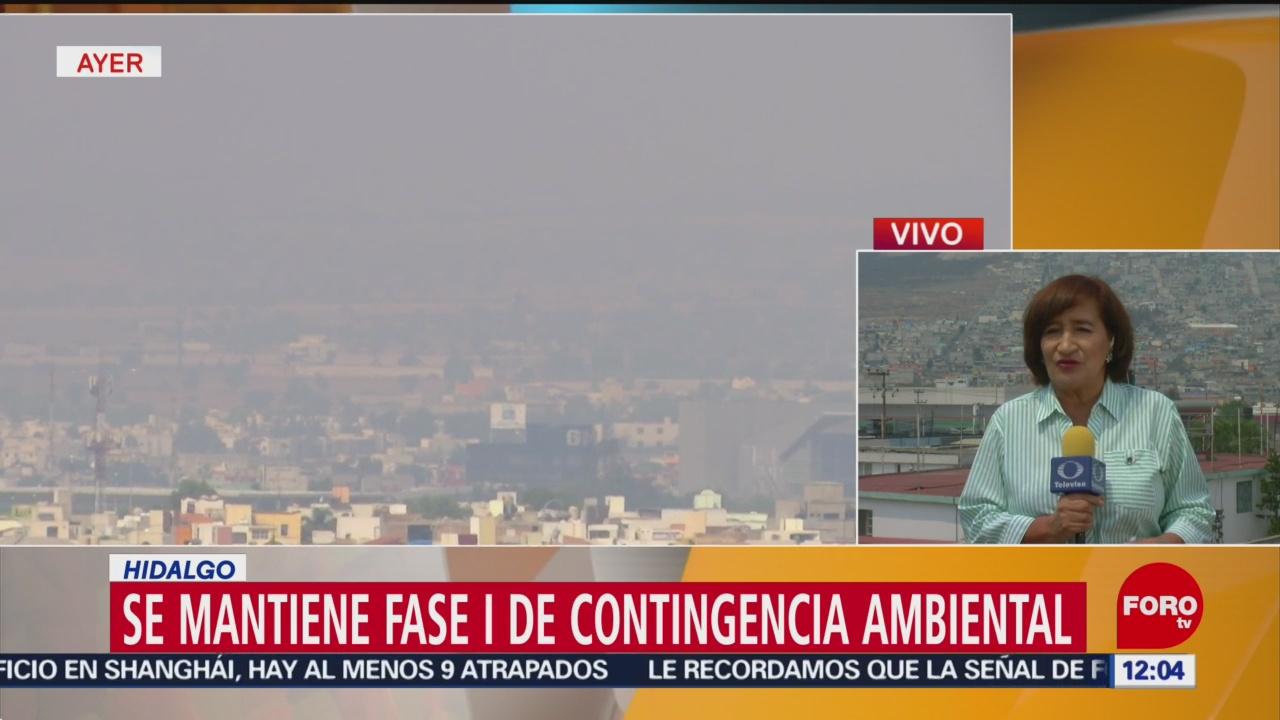 Pachuca mantiene fase I de contingencia ambiental