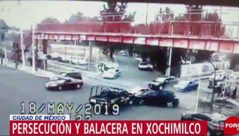 Foto: Tras una persecución policías capitalinos detuvieron a 4 personas que intentaron robar una casa en Xochimilco, el 19 de mayo de 2019 (Noticieros Televisa)