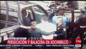 FOTO: Persecución y balacera en la alcaldía Xochimilco, 19 MAYO 2019