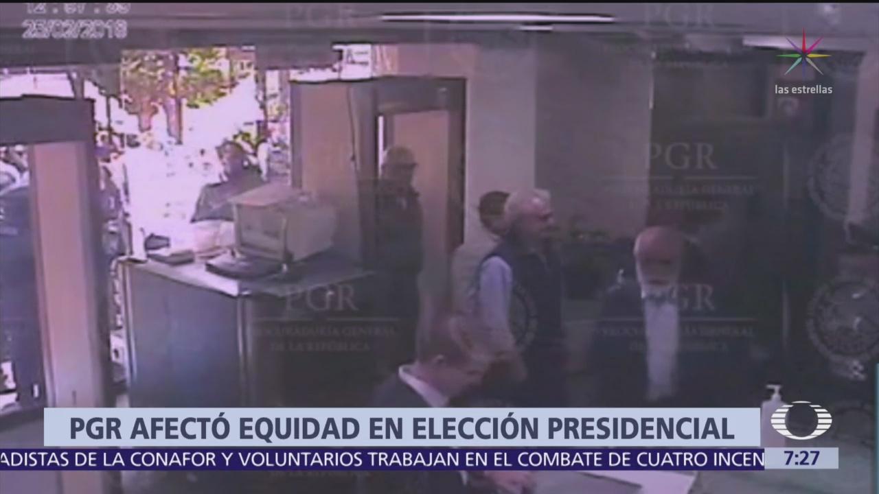 PGR afectó equidad en elección presidencial