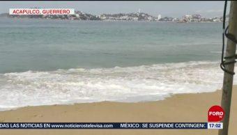 FOTO: Playas de Acapulco, Guerrero, registran olas de hasta tres metros de altura, 19 MAYO 2019