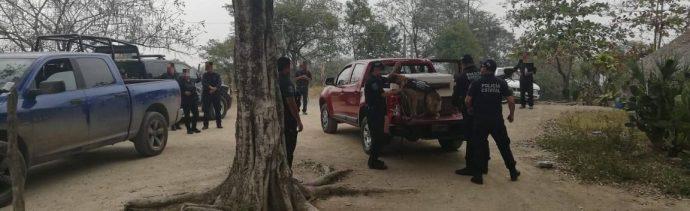 Foto: operativo de seguridad en SLP, 27 de febrero 2019. (Facebook-Fiscalía General del Estado de San Luis Potosí)