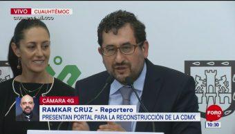 Presentan portal para la reconstrucción de la CDMX