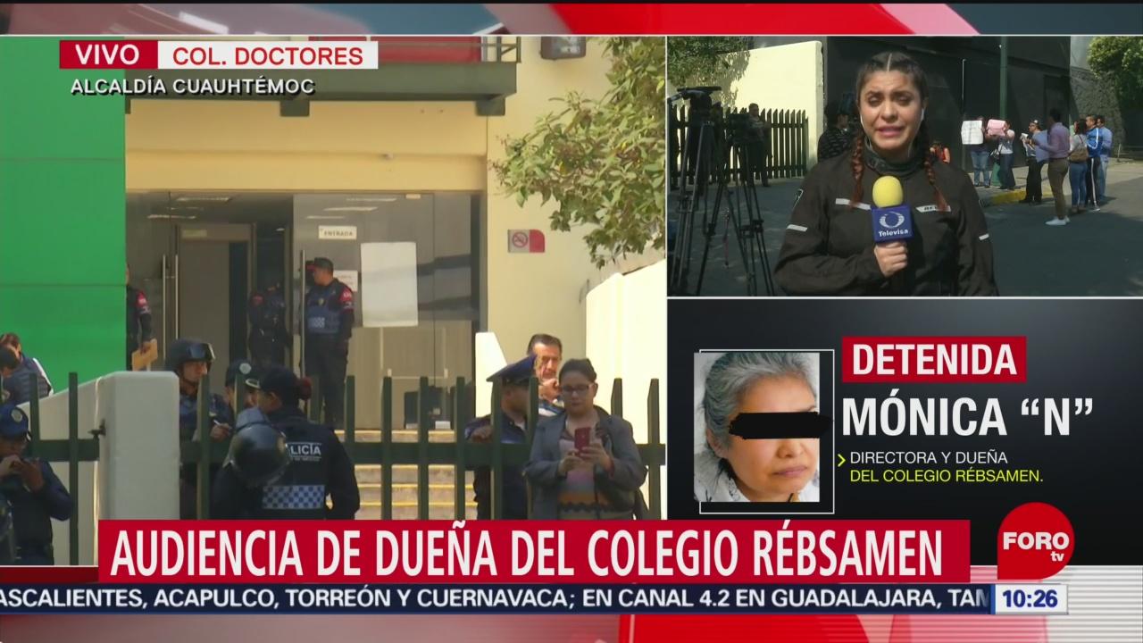 FOTO: Realizan audiencia a dueña del Colegio Rébsamen, 12 MAYO 2019