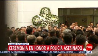 Foto: Ceremonia Honor Policía Asesinado Iztapalapa Secuestro CDMX 15 de Mayo 2019