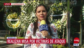 Realizan misa por víctimas de tiroteo en Cuernavaca