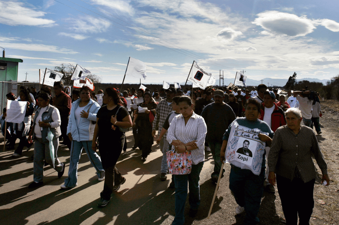 Foto: Recuerdan a mineros fallecidos en Pasta de Conchos, 19 de febrero de 2006, México