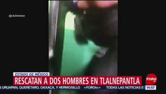 FOTO: Rescatan a dos hombres en Tlalnepantla