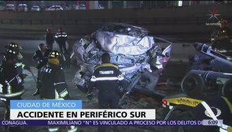 Rescatan con vida a joven y otro muere en diferentes accidentes viales