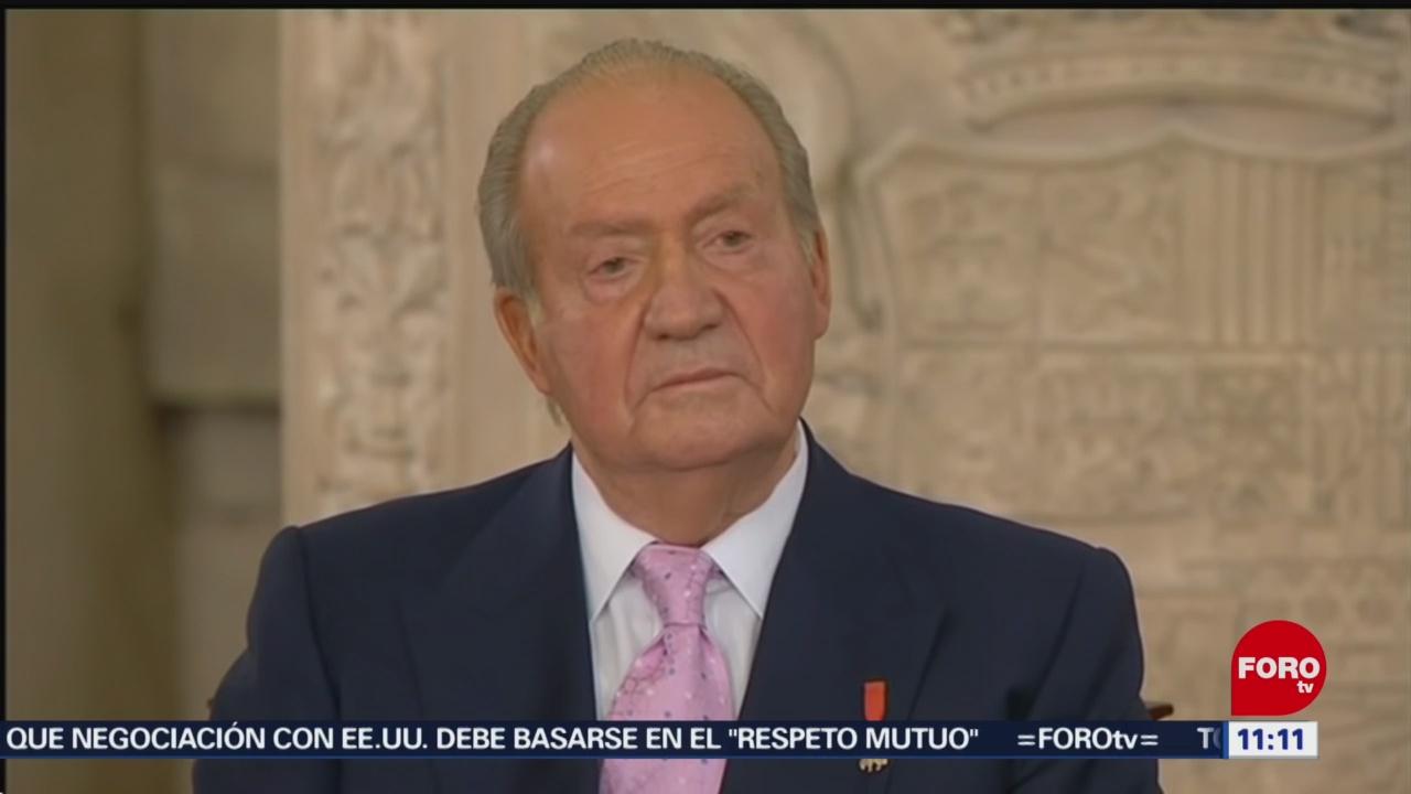 Rey Juan Carlos anuncia que se retira de la vida pública