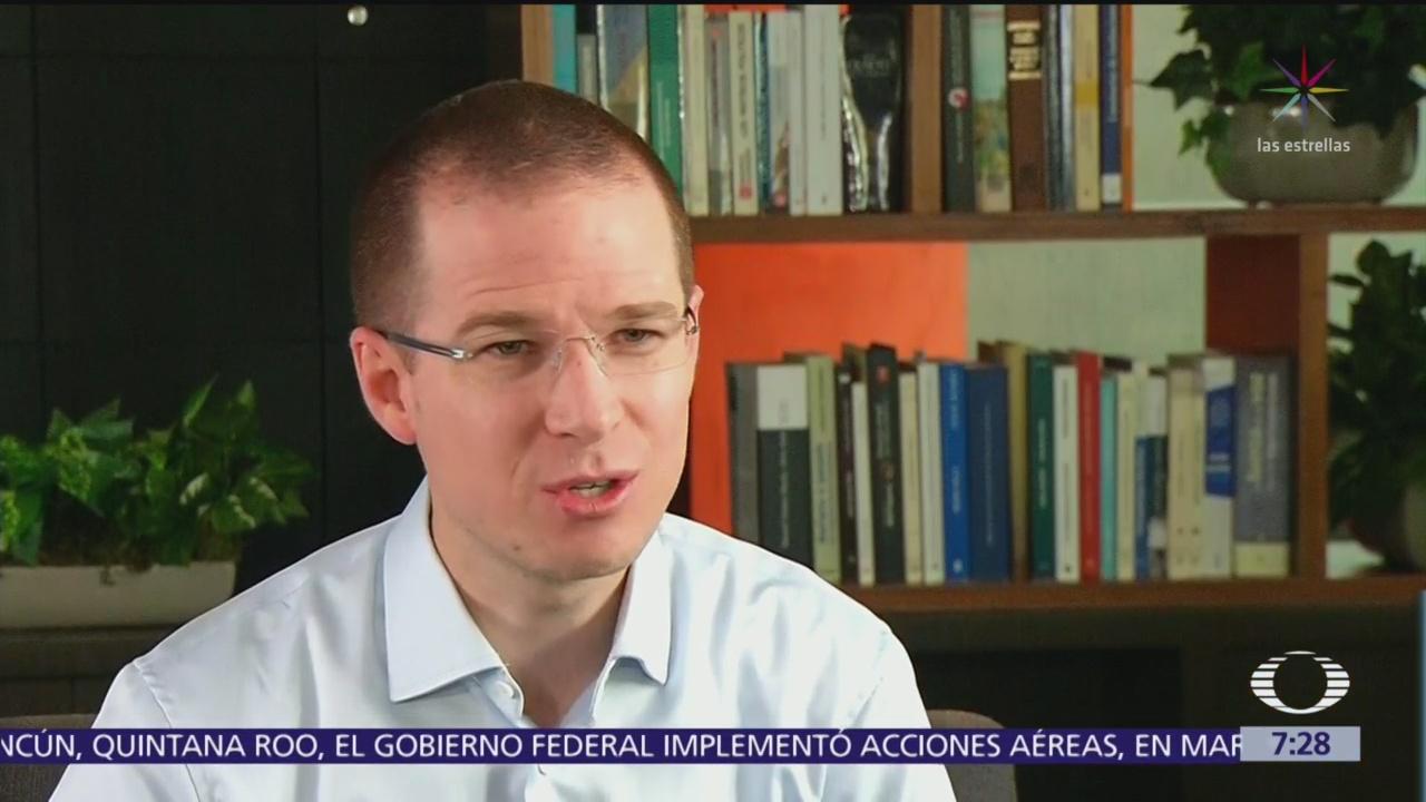 Ricardo Anaya celebra resolución del Tribunal Electoral sobre PGR