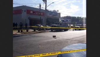 Foto: robo a camión de valores en Guadalajara, 13 de mayo 2019. Twitter @NotiGDL