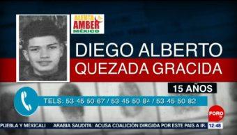 Se emite Alerta Amber por Diego Alberto Quezada Gracida
