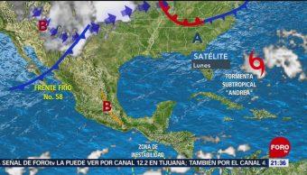 Foto: Tormenta Subtropical Andrea Atlántico 20 Mayo 2019