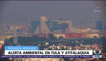 Se mantiene alerta ambiental en Tula, Hidalgo